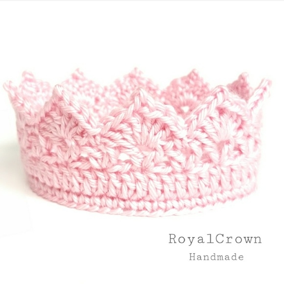 efb9093252764 Crochet baby girl crown NWT